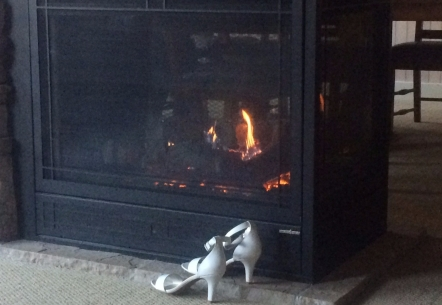 Shoes by the fire