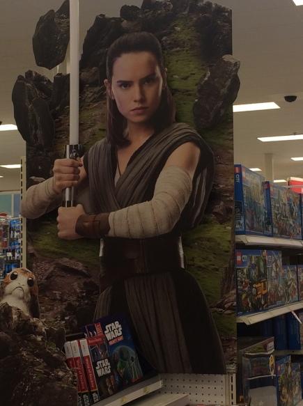 Rey at Target display