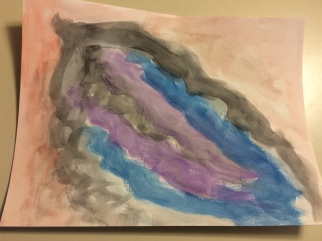tissue healing watercolor