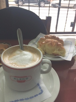 cafe and croissant