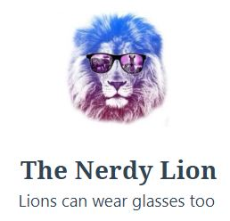 the nerdy lion.JPG
