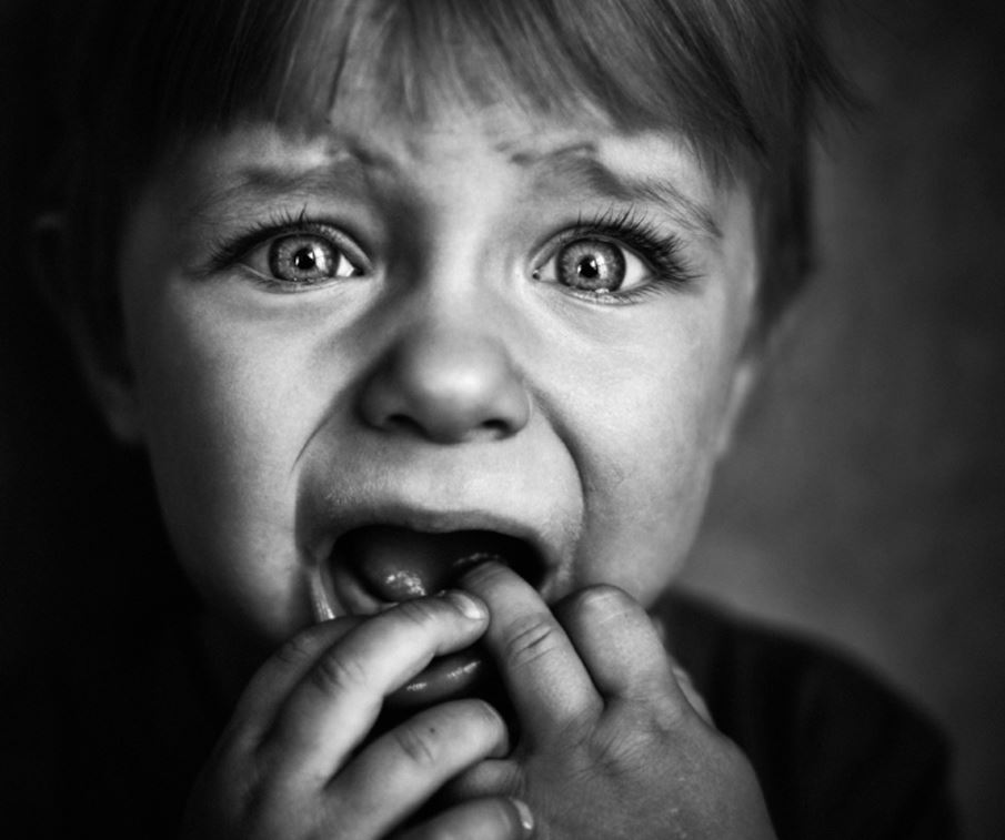 scared little boy