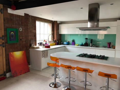 Arty colorful kitchen