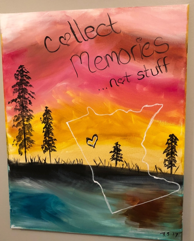 Collect memories not stuff