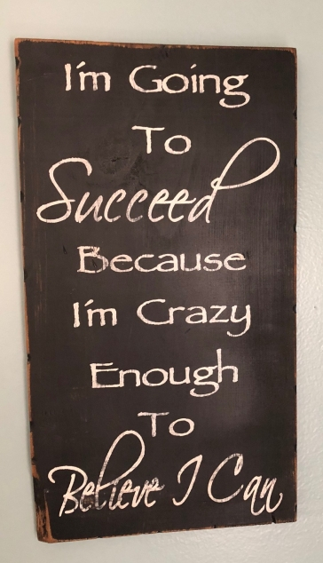 succeed because I am crazy