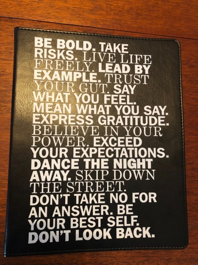 new journal - be bold