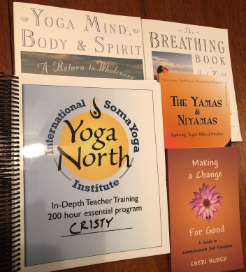 yoga book collage