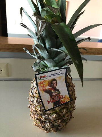 Captain Marvel on the pineapple