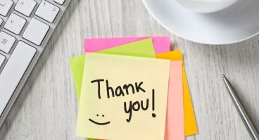 image of thank you post-it