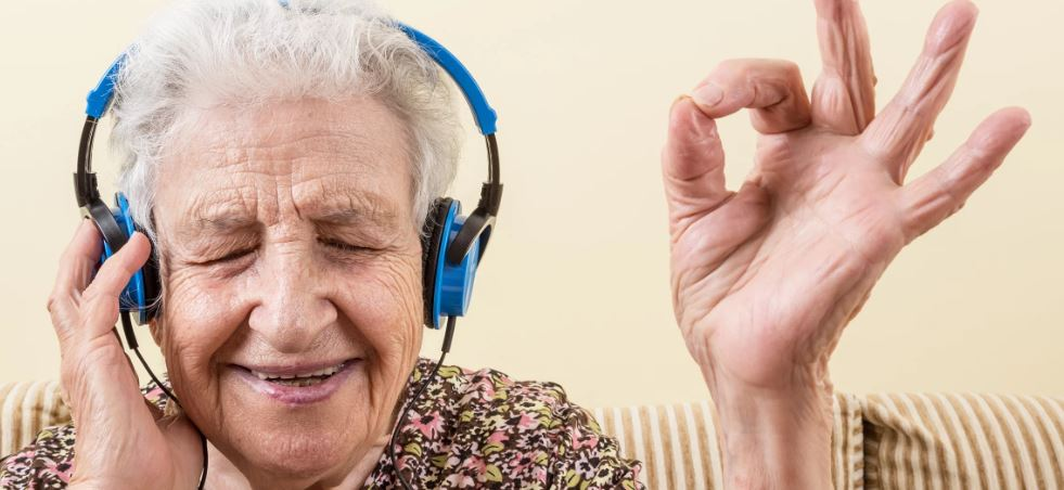 old lady listening