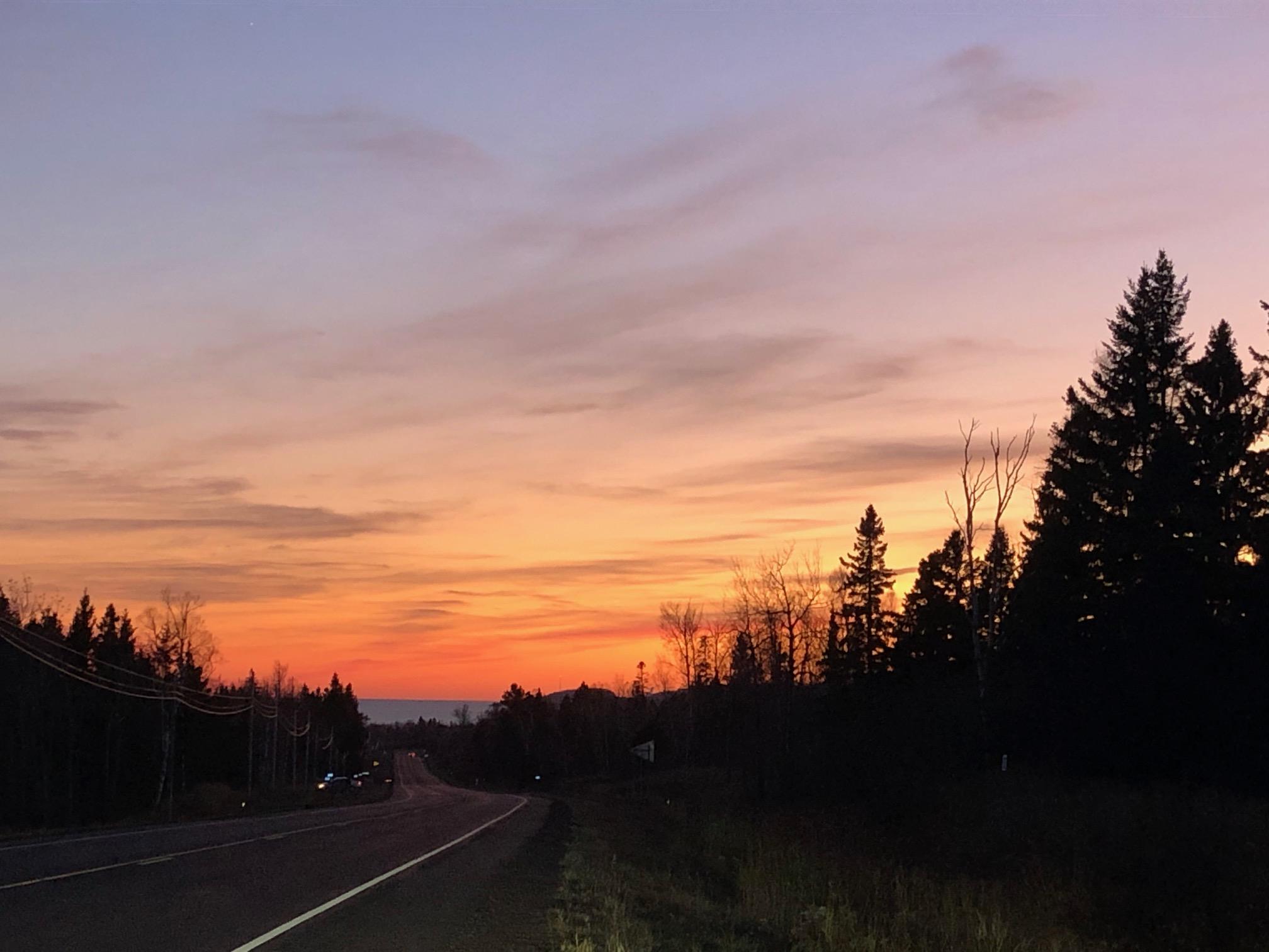 Silver Bay at sunset