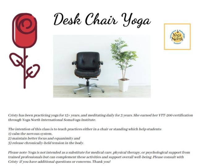 Desk Chair Yoga brand snip
