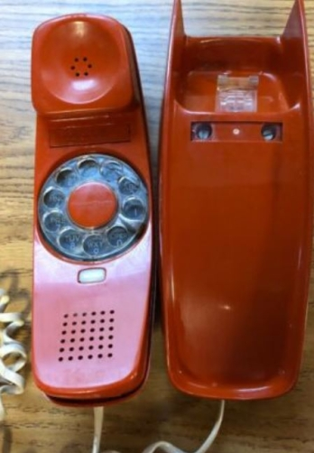 Rotary trim line phone (red)